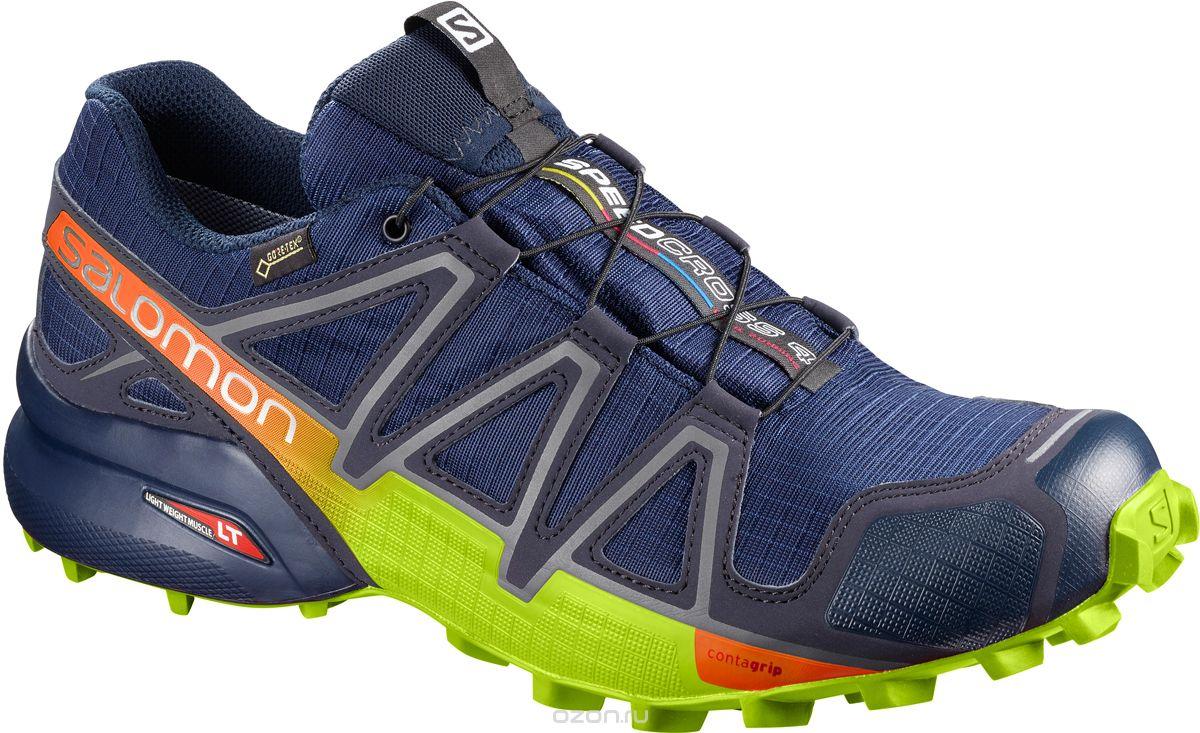 Кроссовки для бега мужские Salomon Speedcross 4 GTX, цвет: синий. L40093800. Размер 11,5 (45)