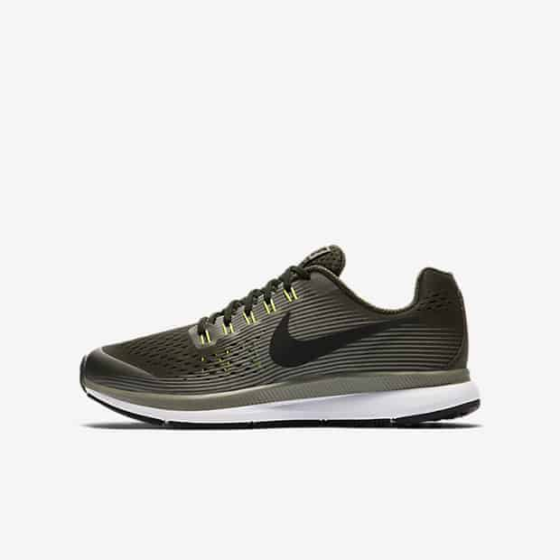 Кроссовки для бега Детские Nike Zoom Pegasus 34 унисекс Оливковый цвет