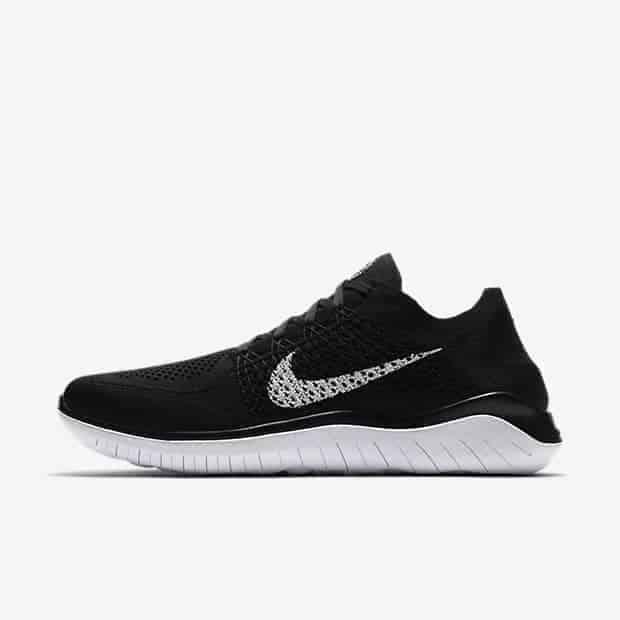 Кроссовки для бега Nike Free RN Flyknit 2018 мужские Черный цвет