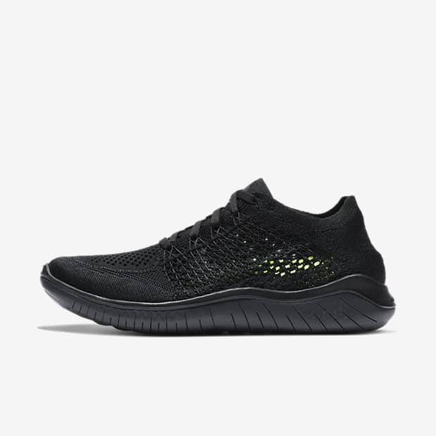 Кроссовки для бега Nike Free RN Flyknit 2018 женские Черный цвет