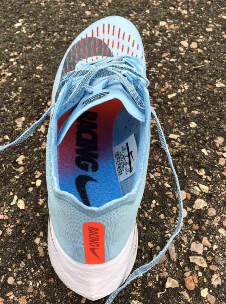 Nike Zoom Vaporfly 4% - вид изнутри